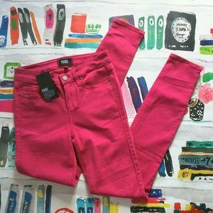 NWT Paige Verdugo Ultra Skinny Jeans Hot Pink 26